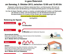 Zivilschutz-Probealarm – 5. Oktober 2013