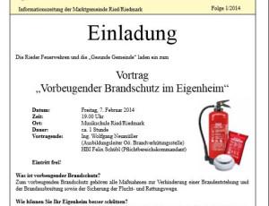Vortrag Vorbeugender Brandschutz
