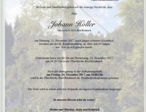 Todesfall Johann Höller