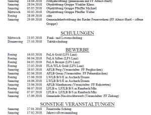 Ausbildungsplan 2018